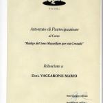 Attestato Dott. Mario Vaccarone - Dentista Casale Monferrato