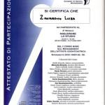 Attestato Sig.ra Luisa Zanarotto - Studio dentistico dott. Mario Vaccarone - Casale Monferrato